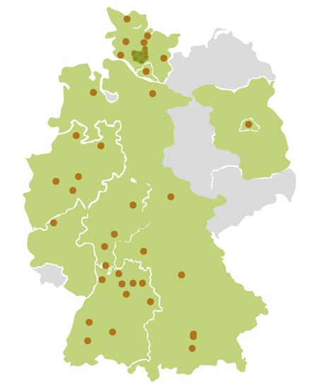 Unsere Standorte in und um Hamburg